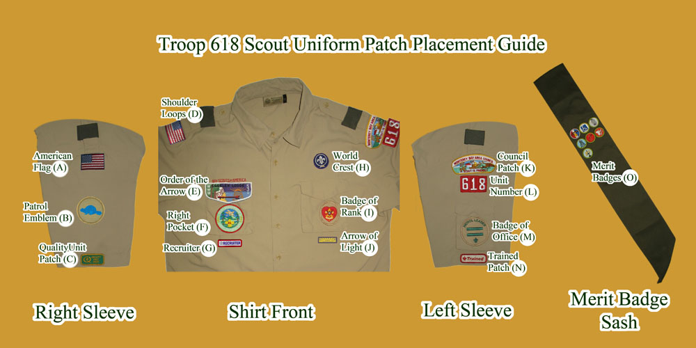 Boy Scout Uniform Patch Placement Scout Badge : Car ...