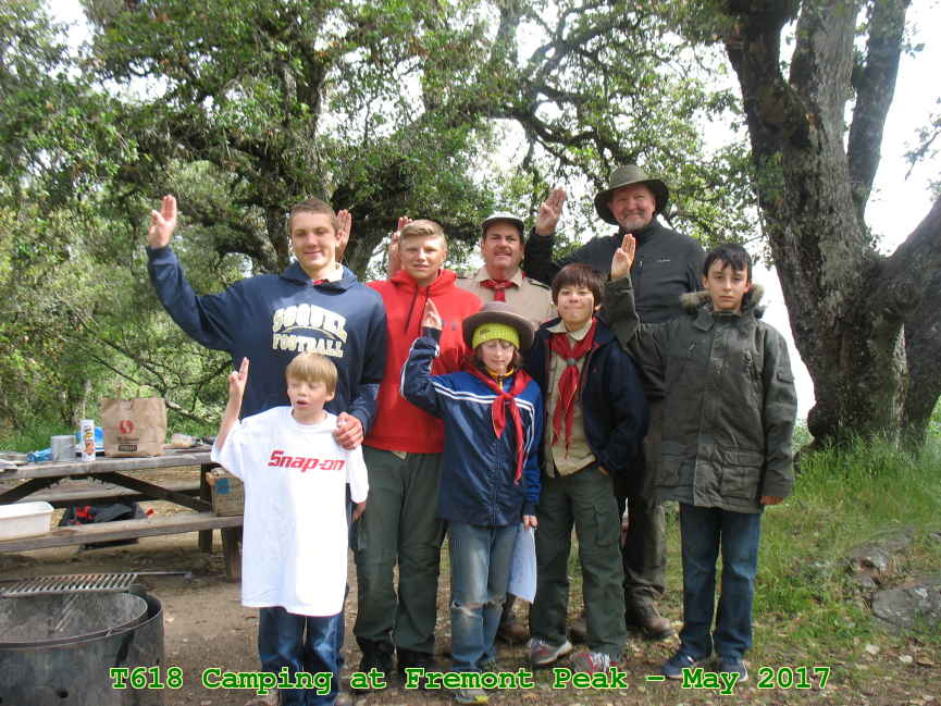 the Troop at Henry Coe State Park